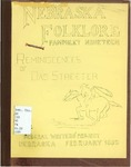 Nebraska Folklore: Pamphlet 19,  Reminiscences of Dad Streeter