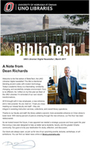 BiblioTech, March 2017 by UNO Libraries