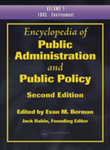 <i> Encyclopedia of Public Administration and Public Policy</i> by Evan M. Berman, Jack Rabin, and John R. Bartle