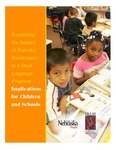 <i>Examining the Impact of Parental Involvement in a Dual Language Program: Implications for Children and Schools</i> by Juan F. Casas, Carey S. Ryan, Lisa Kelly-Vance, Bridget O. Ryalls, Angela Ferguson, and Collette Nero