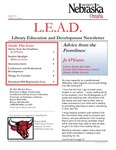 Library Education and Development Newsletter, Volume 3, Issue 4 by UNO Library Science Education