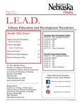 Library Education and Development Newsletter, Volume 6, Issue 3 by UNO Library Science Education