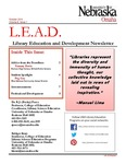 Library Education and Development Newsletter, Volume 8, Issue 1