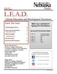 Library Education and Development Newsletter, Volume 7, Issue 1