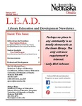 Library Education and Development Newsletter, Volume 8, Issue 3 by UNO Library Science Education