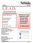 Library Education and Development Newsletter, Volume 9, Issue 1