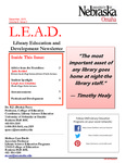 Library Education and Development Newsletter, Volume 9, Issue 2